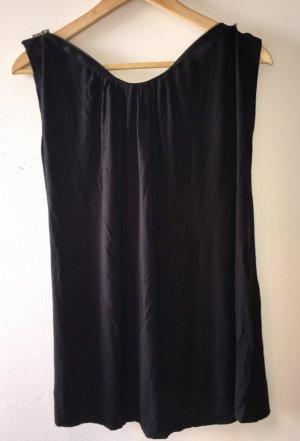 * Diane von Fürstenberg * schwarzes ärmelloses Oberteil * Reißverschluss-Kragen * Gr.  S * chique! *