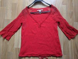 Diane von Furstenberg Zijden blouse baksteenrood Zijde