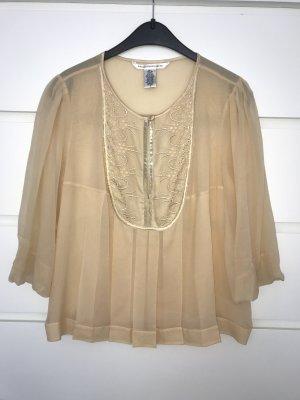 Diane von Furstenberg Blusa de seda crema