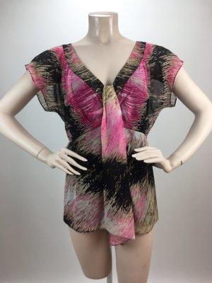 Diane von Furstenberg Blusa de seda multicolor