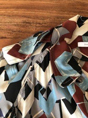 Diane von Furstenberg Abito blusa camicia multicolore Seta