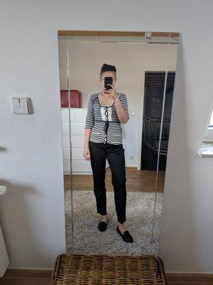 Diane von Furstenberg Geribd shirt beige-zwart Zijde