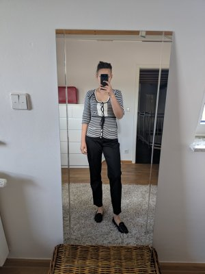 Diane von Furstenberg Camicia a coste beige-nero Seta