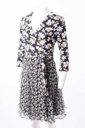 DIANE VON FÜRSTENBERG - Wickelkleid mit Blumenprint Schwarz-Weiß
