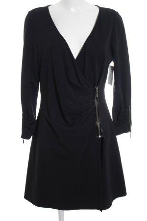 Diane von Furstenberg Abendkleid schwarz-silberfarben Elegant