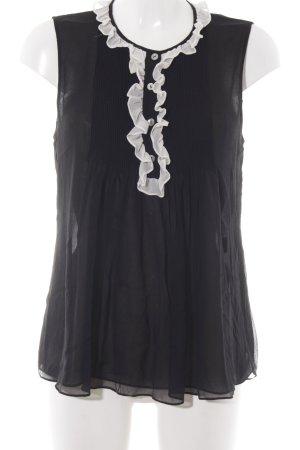 Diane von Furstenberg ärmellose Bluse schwarz Casual-Look