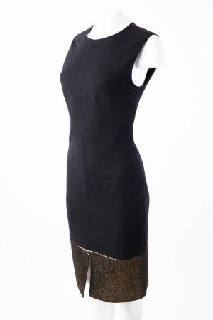 DIANE VON FURSTENBERG - Ärmelloses Kleid Schwarz mit Goldbordüre