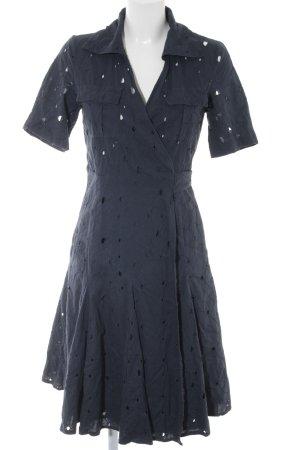 Diane von Furstenberg Ballonkleid dunkelblau abstraktes Muster Urban-Look