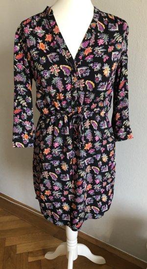 Diane von Furstenberg Bedrucktes Seidenshirtkleid in Gr. 4