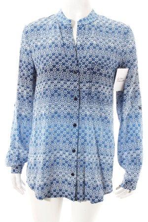 Diane von Furstenberg Bluse blau-weiß klassischer Stil