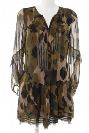 Diane von Furstenberg Blusenkleid Camouflagemuster Casual-Look