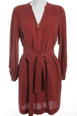 Diane von Furstenberg Blusenkleid dunkelrot schlichter Stil