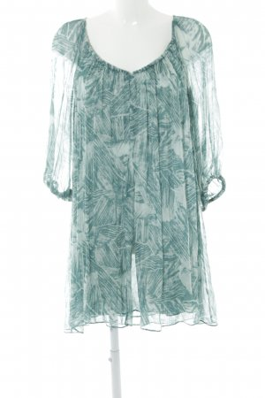Diane von Furstenberg Blusenkleid kadettblau-türkis abstraktes Muster