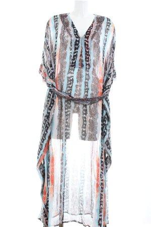 Diane von Furstenberg Chiffonkleid Streifenmuster Transparenz-Optik