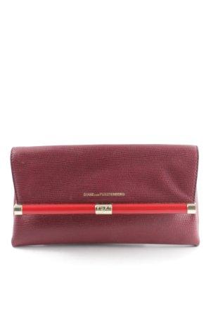Diane von Furstenberg Bolso de mano rojo amarronado-rojo elegante