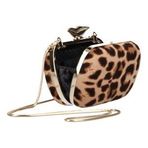 Diane von Furstenberg Clutch DVF Handtasche Leoparden Muster Fell Umhängetasche