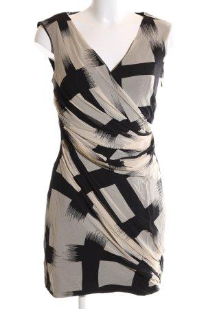 Diane von Furstenberg Cocktailkleid schwarz-wollweiß abstraktes Muster Elegant
