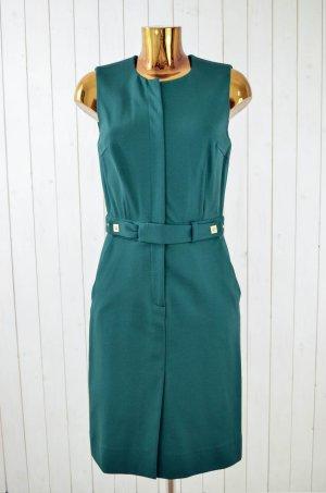 DIANE VON FURSTENBERG Damen Kleid Grün Köperstruktur Tailliert Gr.8