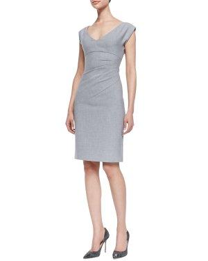 Diane von Furstenberg Etui Kleid Business Grau XS 36