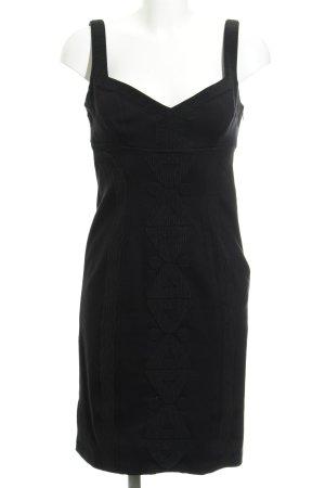 Diane von Furstenberg Etuikleid schwarz grafisches Muster Elegant