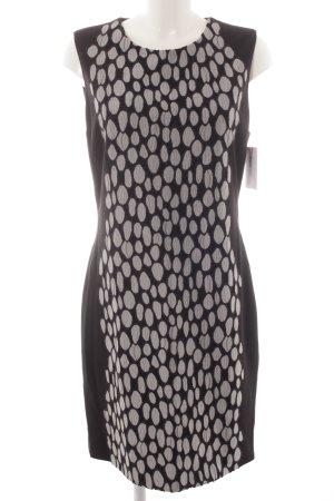 Diane von Furstenberg Etuikleid schwarz-weiß Punktemuster Elegant
