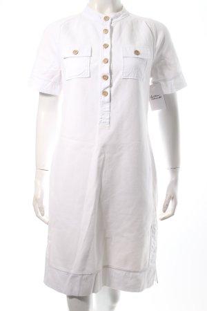 Diane von Furstenberg Hemdblusenkleid weiß schlichter Stil