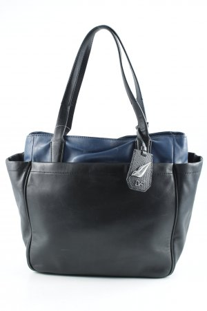 Diane von Furstenberg Carry Bag black-blue color blocking casual look