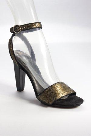 Diane von Furstenberg High Heel schwarz-goldfarben