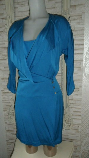 Diane von Furstenberg Kleid 2 x Teile Gr. 12/ 38 Seide, Blau Luxus Pur