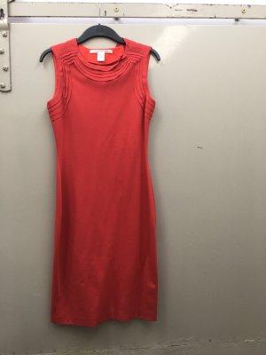 Diane von Furstenberg Kleid Etuikleid Bleistiftkleid rot Größe 36 figurbetont