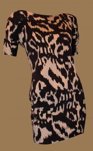 DIANE VON FURSTENBERG Kleid MINI Tunika Gr. 36 / 38