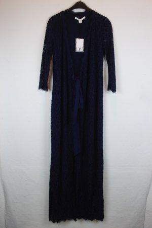 DIANE VON FURSTENBERG Kleid Wickelkleid Spitze Gr. 36 dunkelblau NEU mit Etikett
