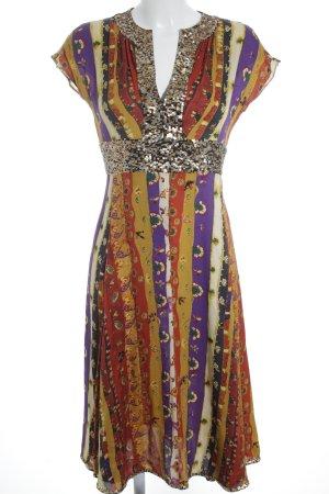 Diane von Furstenberg Kurzarmkleid abstraktes Muster extravaganter Stil