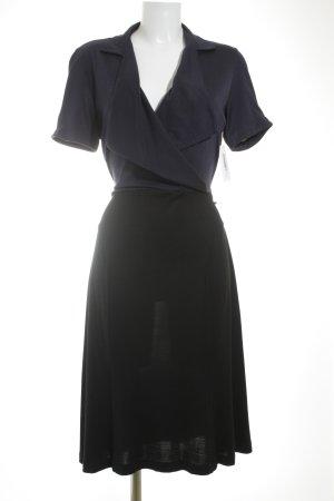 Diane von Furstenberg Kurzarmkleid dunkelblau-schwarz Elegant