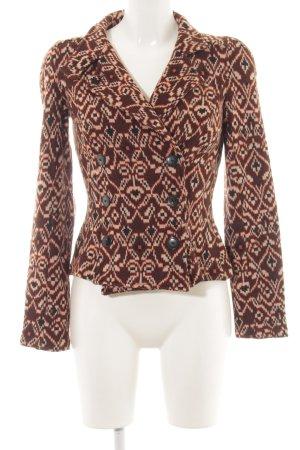 Diane von Furstenberg Kurzjacke braun-creme Allover-Druck extravaganter Stil