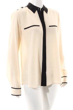 Diane von Furstenberg Langarm-Bluse creme-schwarz Business-Look