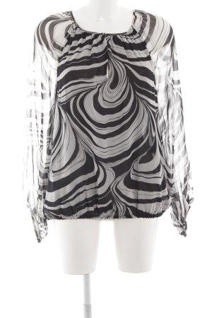Diane von Furstenberg Langarm-Bluse graubraun-grau abstraktes Muster