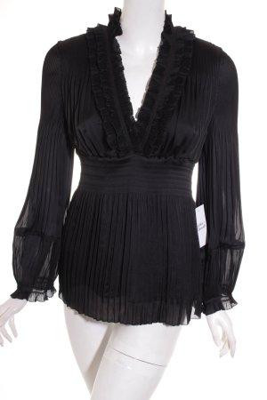 Diane von Furstenberg Langarm-Bluse schwarz Elegant
