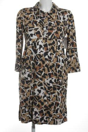 Diane von Furstenberg Langarmkleid abstraktes Muster Retro-Look