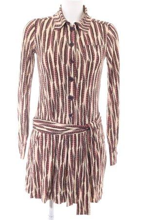 Diane von Furstenberg Langarmkleid Allover-Druck Casual-Look