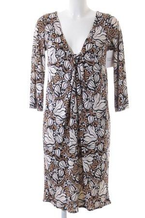 Diane von Furstenberg Langarmkleid florales Muster klassischer Stil
