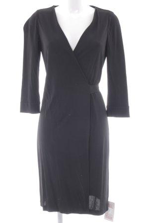 Diane von Furstenberg Langarmkleid schwarz minimalistischer Stil