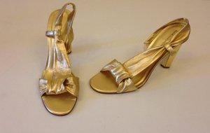 Diane von Furstenberg Outdoor Sandals dark yellow leather