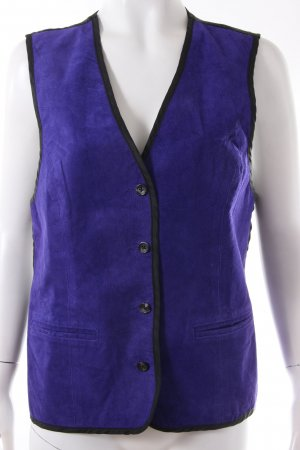 Diane von Furstenberg Leather Vest black-dark violet leather