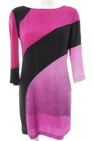 Diane von Furstenberg Minikleid schwarz-violett Mustermix extravaganter Stil