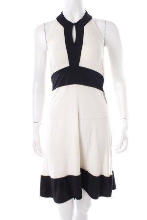 Diane von Furstenberg Neckholderkleid creme-schwarz Colourblocking Beach-Look