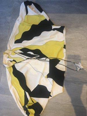 Diane von Furstenberg Zijden blouse geel-zwart