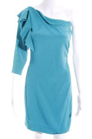 Diane von Furstenberg One-Shoulder-Kleid petrol Elegant