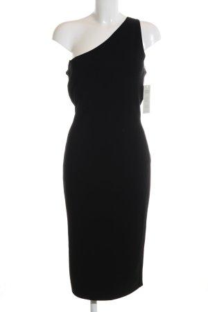 Diane von Furstenberg One-Shoulder-Kleid schwarz Elegant