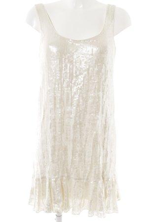 Diane von Furstenberg Vestido de lentejuelas blanco puro elegante